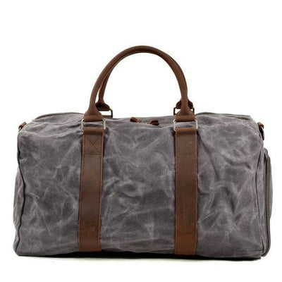 Canvas Leather Herren Reiserucksack