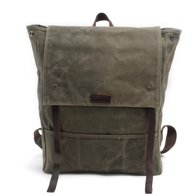 Vintage Canvas Backpack Rucksack Herren