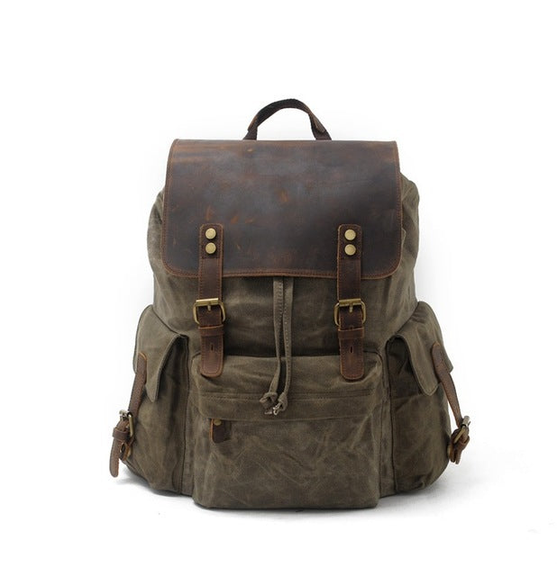 Luxury Canvas Rucksack Herren
