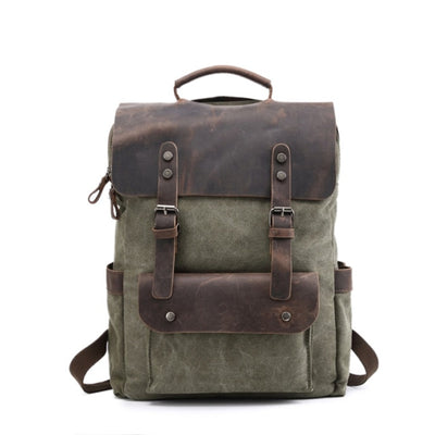 Canvas Backpack Rucksack Herren