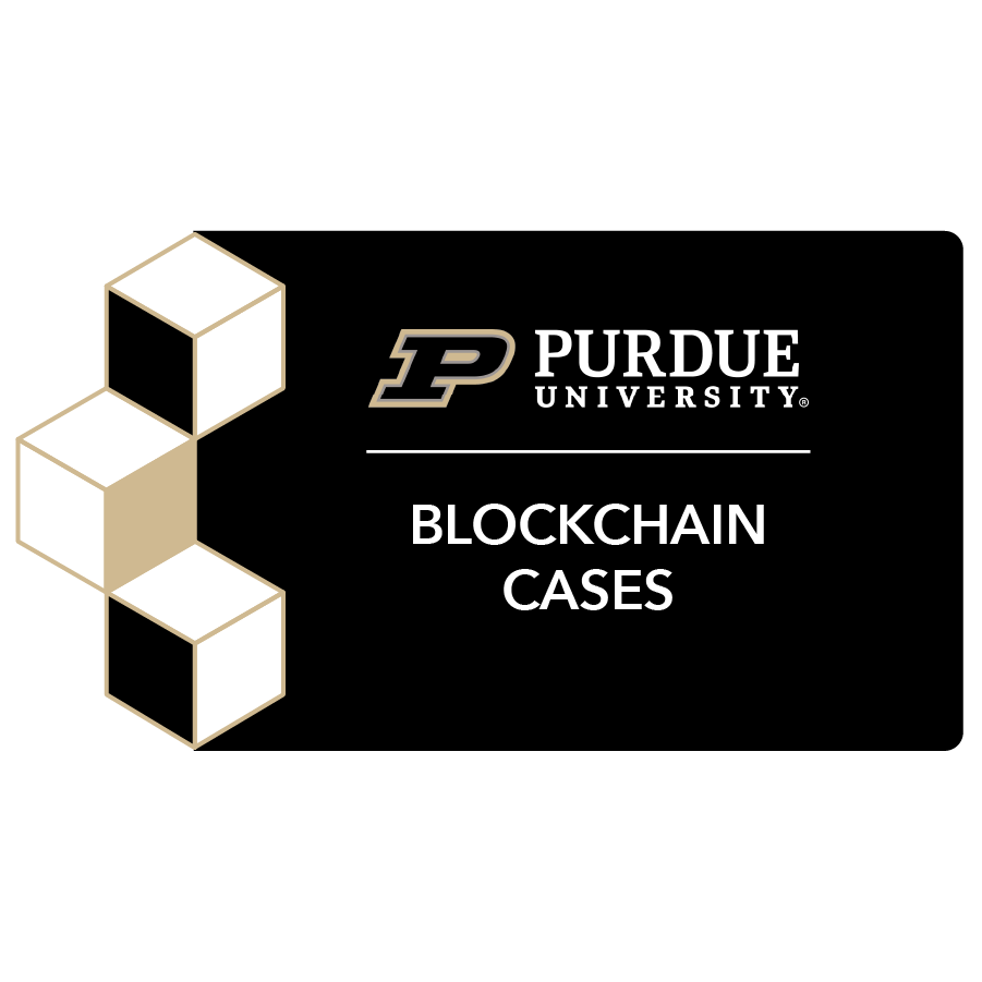digital badge for Blockchain Cases from Purdue University powered by EmergingEd
