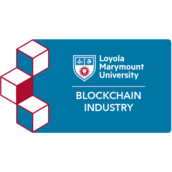 digital badge for Blockchain and Industry from Loyola Marymount University Extension powered by EmergingEd