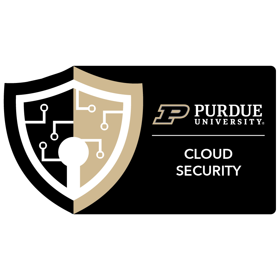 digital badge for Cloud Security from Purdue University powered by EmergingEd
