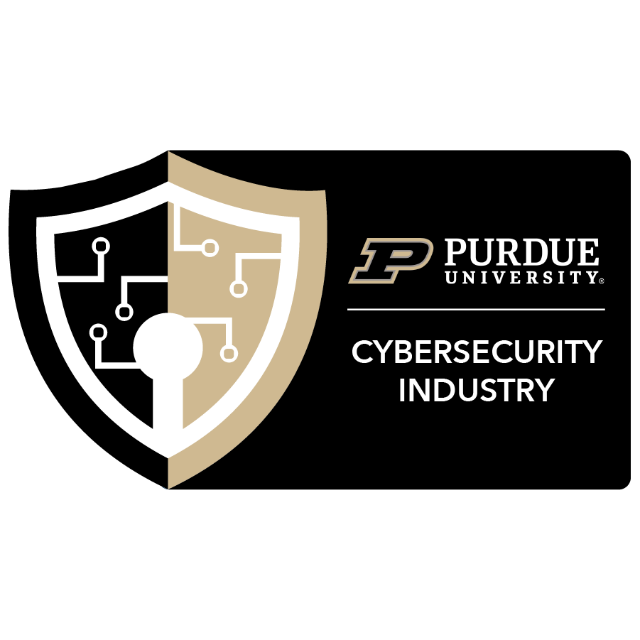 digital badge for Cybersecurity Risks and Industry from Purdue University powered by EmergingEd