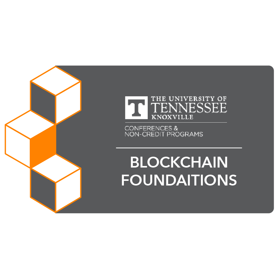 digital badge for Blockchain Foundations and Frameworks from University of Tennessee, Knoxville powered by EmergingEd