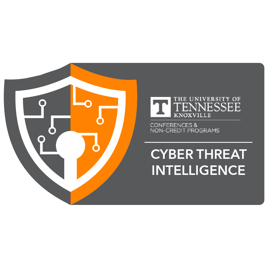 digital badge for Cyber Threat Intelligence from University of Tennessee, Knoxville powered by EmergingEd