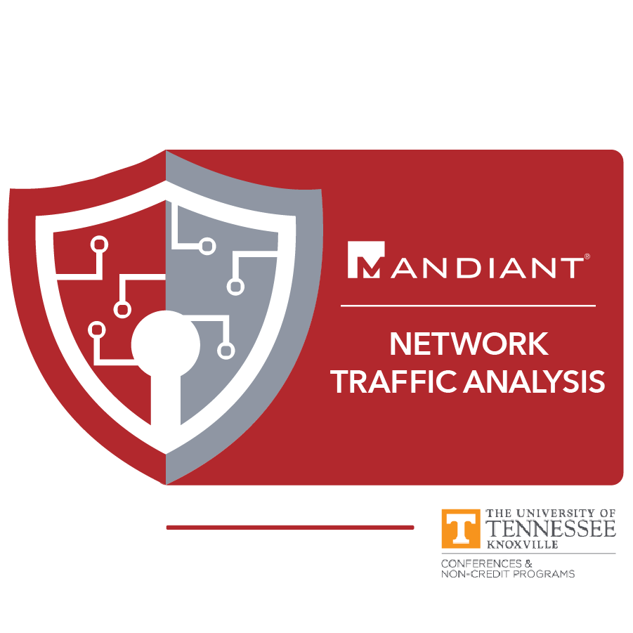 digital badge for Network Traffic Analysis from University of Tennessee, Knoxville powered by FireEye