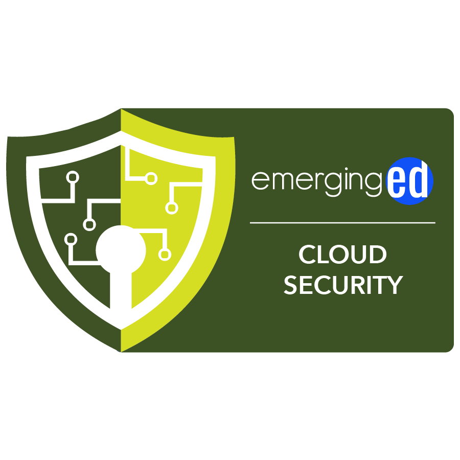 digital badge for Cloud Security from EmergingEd powered by EmergingEd