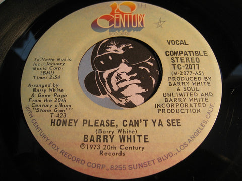 Barry White - Honey Please Can't Ya See b/w instrumental - 20th Century #2077 - Modern Soul
