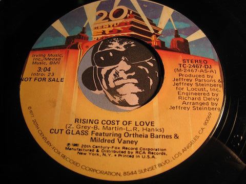 Cut Glass - Rising Cost Of Love b/w same - 20th Century Fox #2467 - Modern Soul