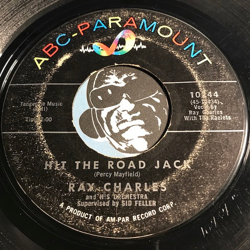 Ray Charles - Hit The Road Jack b/w The Danger Zone - ABC Paramount #10244 - R&B Soul