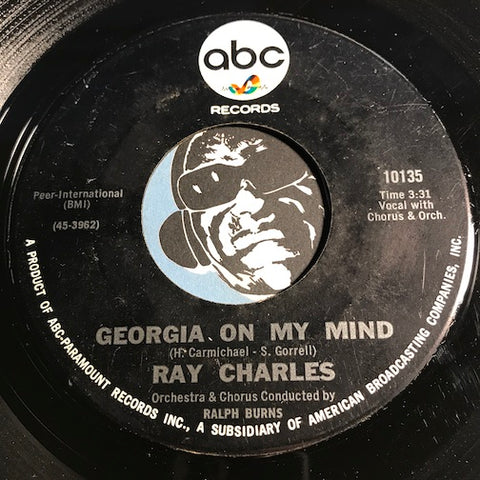 Ray Charles - Georgia On My Mind b/w Carry Me Back To Old Virginny - ABC #10135 - Soul - R&B Soul