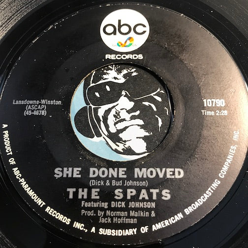 Spats - She Done Moved b/w Scoobee Doo - ABC #10790 - Garage Rock