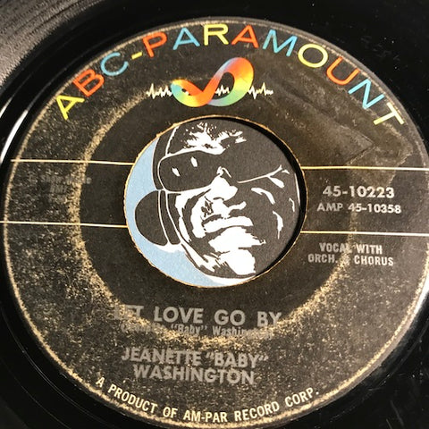 Jeanette Baby Washington - Let Love Go By b/w My Time To Cry - ABC Paramount #10223 - Northern Soul - R&B Soul
