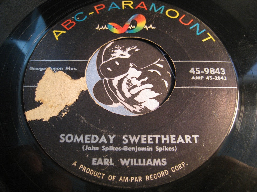 Earl Williams - A Fool In Love b/w Someday Sweetheart - ABC Paramount #9843 - R&B