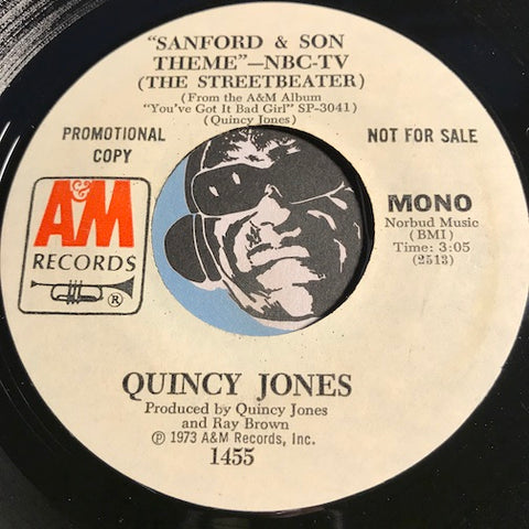 Quincy Jones - Sanford & Son Theme b/w same - A&M #1455 - Jazz - Jazz Funk