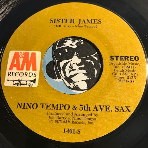 Nino Tempo & 5th Ave Sax - Sister James b/w CLair De Lune (in Jazz) - A&M #1461 - Jazz Funk