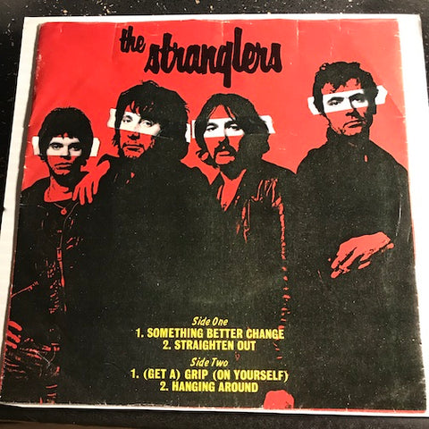 Stranglers - EP - Something Better Change - Straighten Out b/w (Get A) Grip (On Yourself) - Hanging Around - A&M #1973 - Colored vinyl - Punk / Powerpop