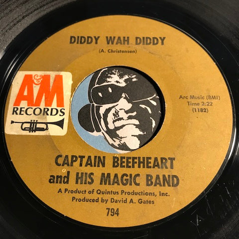 Captain Beefheart & His Magic Band - Diddy Wah Diddy b/w Who Do You Think You're Fooling - A&M #794 - Garage Rock