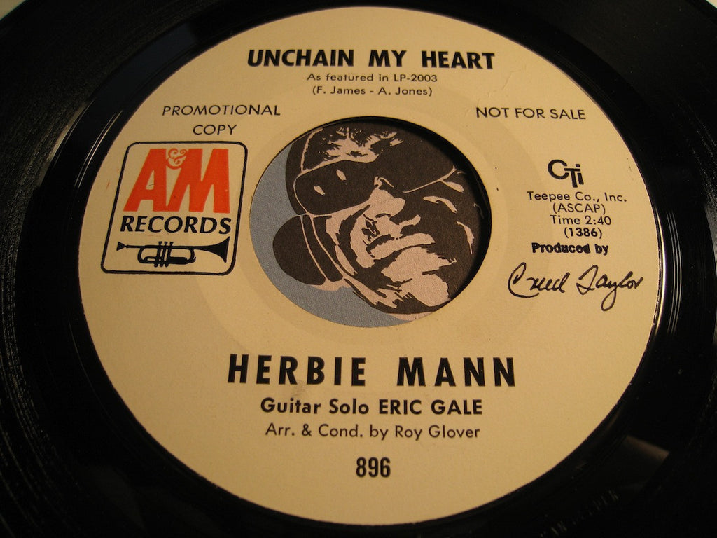 Herbie Mann / Eric Gale - Unchain My Heart b/w Glory Of Love - A&M CTI #896 - Jazz Mod