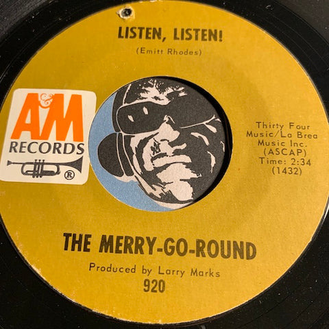 Merry Go Round - Listen Listen b/w Missing You - A&M #920 - Garage Rock