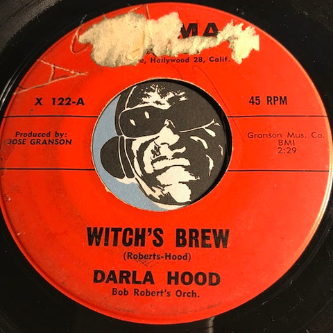 Darla Hood - Witch's Brew b/w Rainy Day In Rome - Acama #122 - Teen - Rock n Roll - Novelty - Halloween