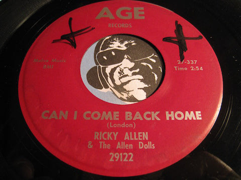 Ricky Allen & Allen Dolls - Can I Come Back Home b/w Eighty Hour Week - Age #29122 - R&B Soul