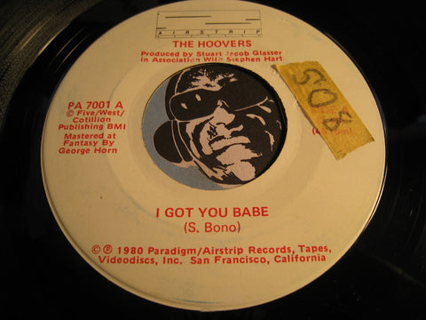 Hoovers - I Got You Babe b/w Captain Scarlet - Airstrip #7001 - Reggae