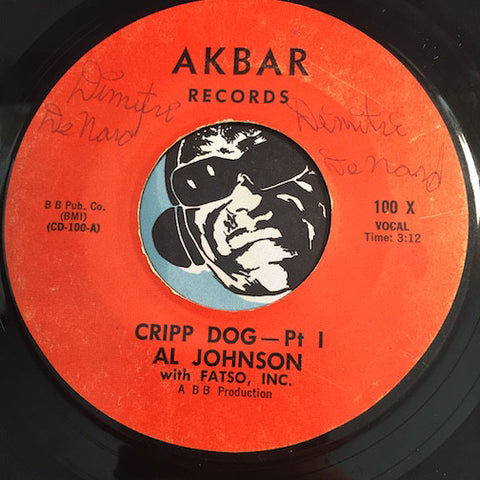 Al Johnson - Cripp Dog pt.1 b/w pt.2 - Akbar #100 - Funk