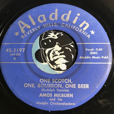 Amos Milburn - One Scotch One Bourbon One Beer b/w What Can I Do - Aladdin #3197 - R&B