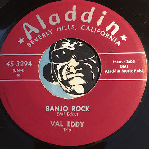 Val Eddy Trio - Banjo Rock b/w Take My Heart - Aladdin #3294 - R&B Instrumental