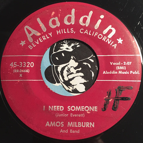 Amos Milburn - I Need Someone b/w French Fried Potatoes And Ketchup - Aladdin #3320 - Doowop