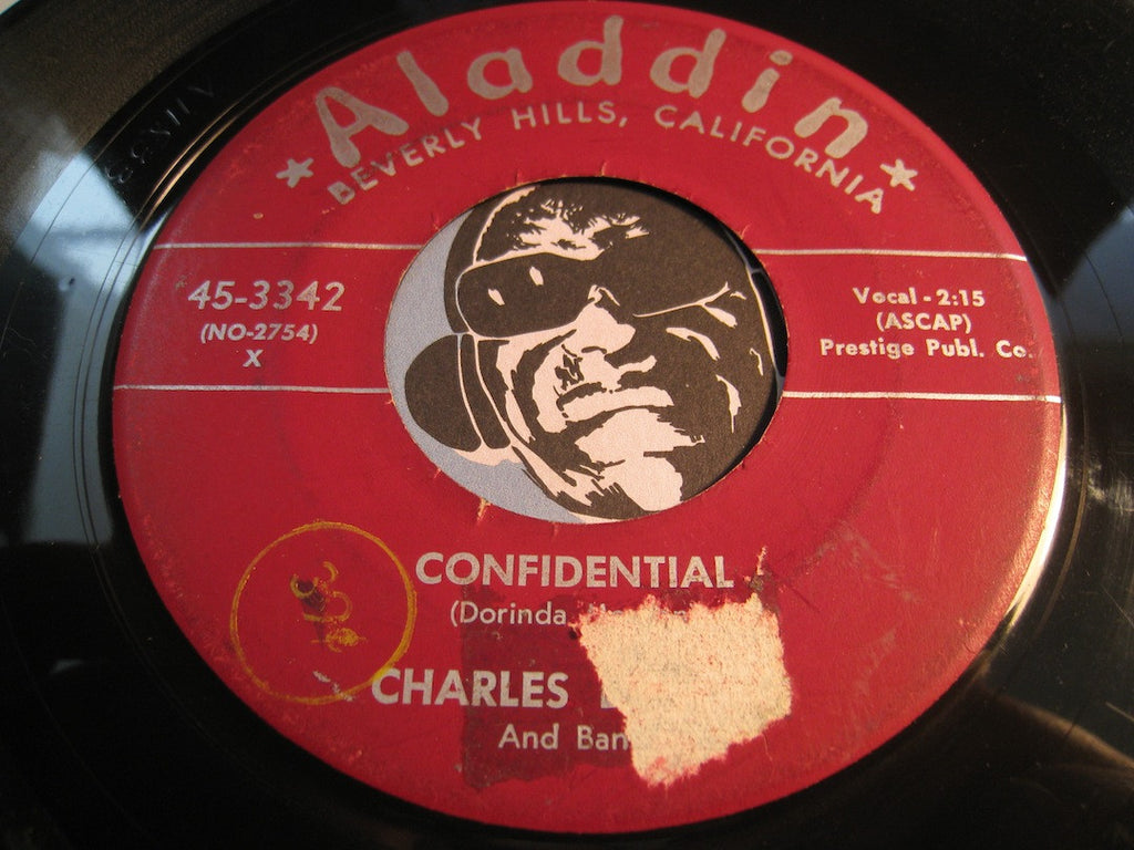 Charles Brown - Confidential b/w Trouble Blues - Aladdin #3342 - Doowop