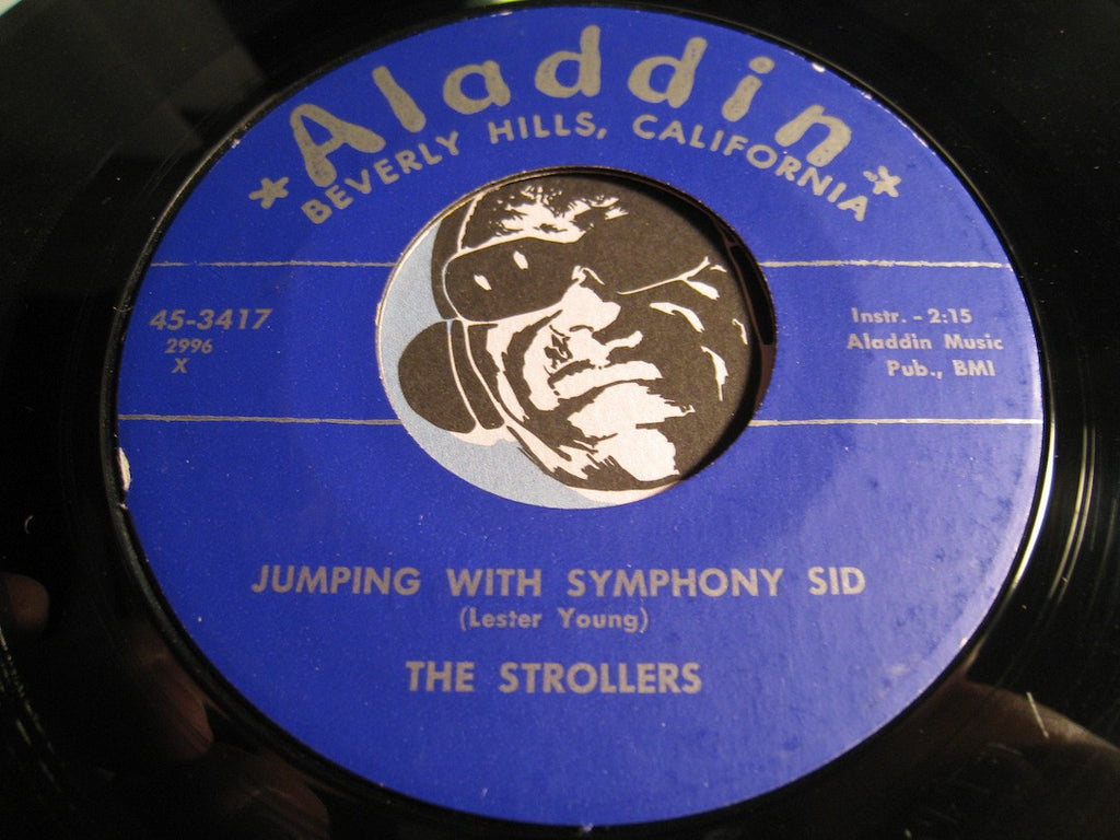 Strollers - Jumping With Symphony Sid b/w Swinging Yellow Rose Of Texas - Aladdin #3417 - Jazz