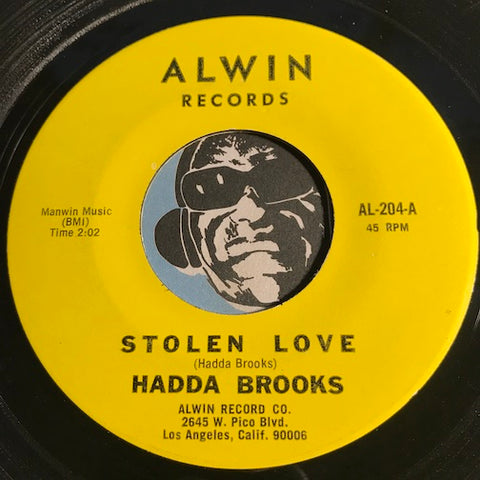 Hadda Brooks - Stolen Love b/w Rain Sometime - Alwin #204 - R&B - Jazz - Soul