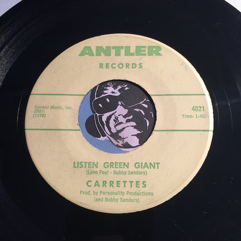 Carrettes - Listen Green Giant b/w Football Freddy - Antler #4021 - R&B Soul