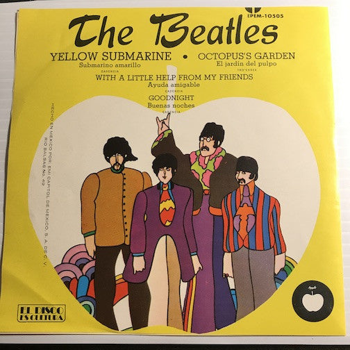 Beatles - Mexican EP - Yellow Submarine - Octopus's Garden b/w With A Little Help From My Friends - Goodnight - Apple #10505 - Rock n Roll