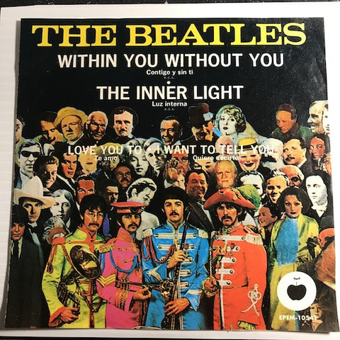 Beatles - Mexican EP - Within You Without You - The Inner Light b/w Love You To - I Want To Tell You - Apple #10541 - Rock n Roll
