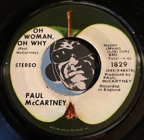 Paul McCartney - Oh Woman Oh Why b/w Another Day - Apple #1829 - Rock n Roll