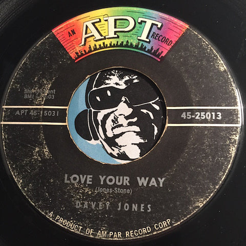 Davey Jones - Love Your Way b/w Come On And Love Me - Apt #25013 - R&B Rocker
