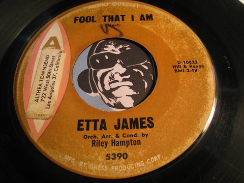 Etta James - Fool That I Am b/w Dream - Argo #5390 - R&B Soul
