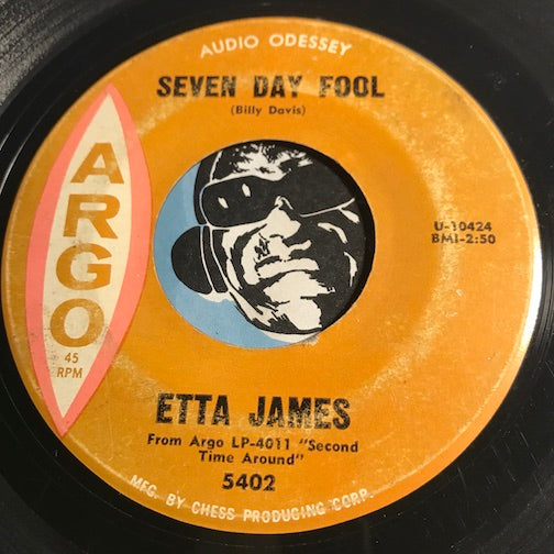 Etta James - Seven Day Fool b/w It's Too Soon To Know - Argo #5402 - Northern Soul
