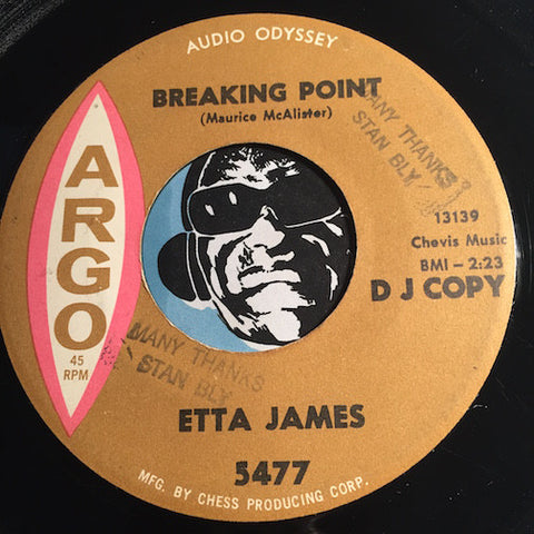 Etta James - Breaking Point b/w That Man Belongs Back Here With Me - Argo #5477 - R&B Soul