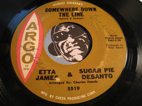 Etta James & Sugar Pie Desanto - Do I Make Myself Clear b/w Somewhere Down The Line - Argo #5519 - R&B Soul