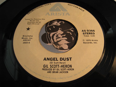 Gil Scott Heron - Angel Dust b/w same - Arista #0366 - Jazz Funk
