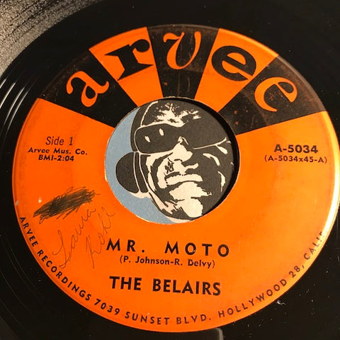 Belairs -  Mr. Moto b/w Little Brown Jug - Arvee #5034 - Surf