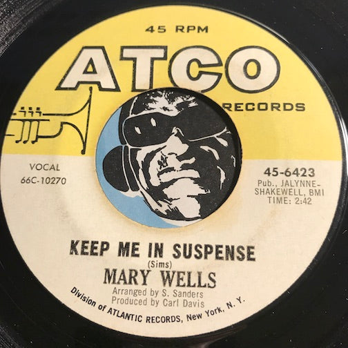 Mary Wells - Keep Me In Suspense b/w Such A Sweet Thing - Atco #6423 - Northern Soul