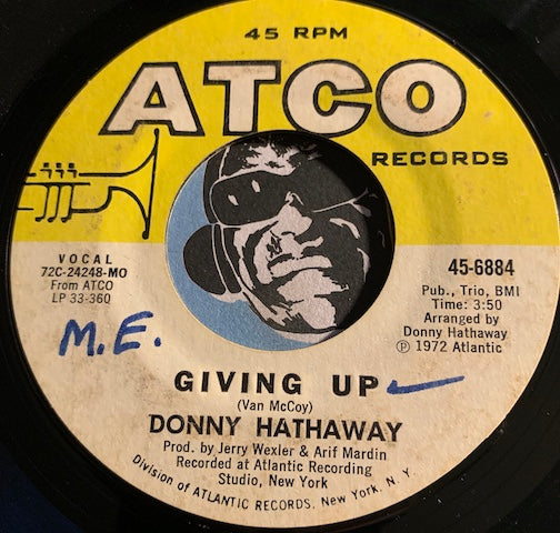 Donny Hathaway - Giving Up b/w Jealous Guy - Atco #6884 - R&B Soul