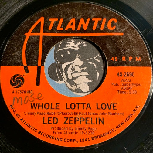 Led Zeppelin - Living Loving Maid (She's Just A Woman) b/w Whole Lotta Love - Atlantic #2690 - Rock n Roll