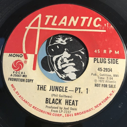 Black Heat - The Jungle pt. 1 b/w same - Atlantic #2934 - Funk